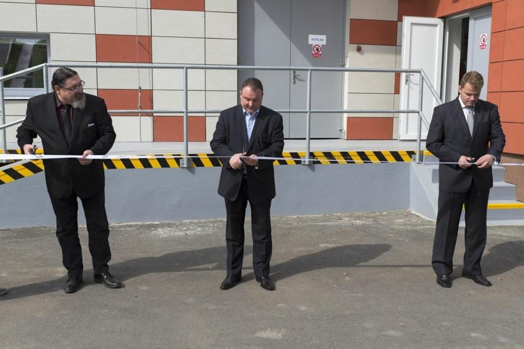 Slavnostní stříhání pásky rekonstruované úpravny vody ve Strakonicích